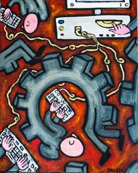 Bureaucracy - Acrylic on canvas - 24 x 30 inches